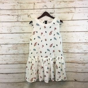 English Factory White Floral A-Line Dress Large